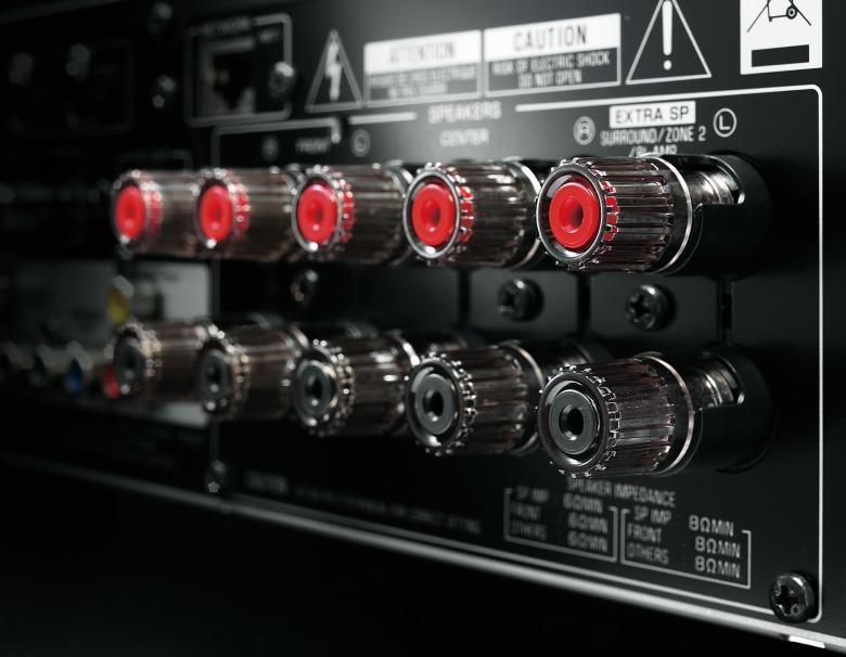 YAMAHA RX-S600 AV-viritinvahvistin 5x 95W, Airplay, MHL, HDMI 5in/1out, Ethernet, YPAO, Android/iOs sovellus, erikoismatala korkeus vain 11cm ja syvyyttä 32cm. Spotify Connect. RX-S600 on uudenlainen todella matala AV-viritinvahvistin. RX-S600 mallissa yhdistyvät loistava äänenlaatu sekä monipuolisimmat verkko-ominaisuudet kuten Spotify sekä Airplay. Uusin HDMI versio ( 5-sisään ) tukien 3D kuvaa sekä UHD 4K näyttöresoluutiota. Väri musta.