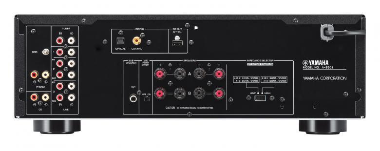 YAMAHA AS-501 Viritinvahvistin 2x 120W, iPod telakka liitettävyys, ToP-ART, Pure Direct, Rec-out valitsin, kullatut kaiutinterminaalit. Yamaha AS-501 on yksinkertaista designia yhdistettynä puhtaaseen suorituskykyyn. Väri hopea.