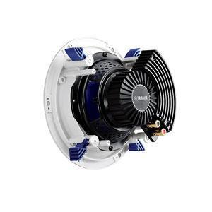 """YAMAHA NS-IC600 Upotettava kattokaiutin, max. 110W, taajuusvaste 65Hz-28kHz, 8ohmia, halkaisia 242mm, paino: 1,8 kg/kpl. Upotettava kattokaiutin on 6.5"""" elementillä sekä tupla puhekela bassokartiolla, kahdella nestejäähdytetyllä kääntyvällä kupolidiskanttilla. Huomaamaton matala ritilä."""
