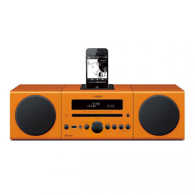 YAMAHA CR-B142 Bluetooth Microjärjestelmä CD:llä, 2x 15W, suora telakka iPod, iPhone, USB-port ja radio, DTA Controller ohjaussovellus (iOs). Täytä huoneesi runsaalla sekä luonnollisella äänellä, useasta eri musiikkilähteestä myöskin langattomasti, sisäisen Bluetooth yhteyden kautta. Väri punainen