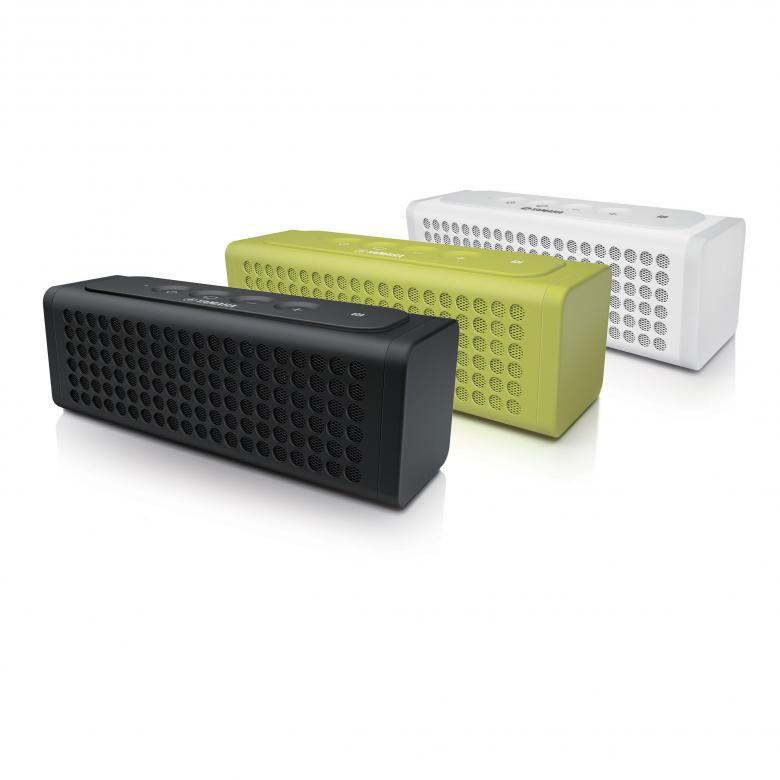 YAMAHA NX-P100 Bluetooth-kaiutin, roiskevesitiivis, NFC paritus, puhelimen lataus, SR basso, Bluetooth toimintasäde n. 10m, sisään rakennettujen akkujen avulla voit nauttia kannettavasta musiikista jopa 8-tuntia yhdellä latauksella. Väri vihreä