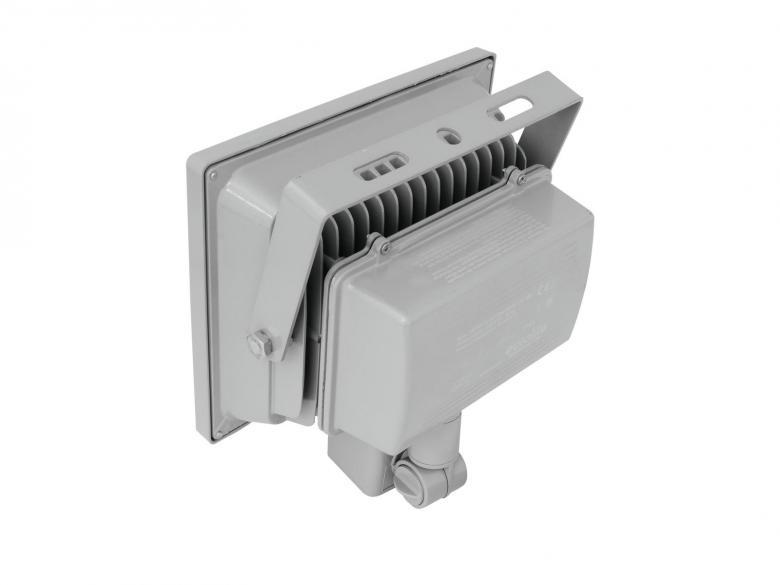 EUROLITE LED FL-30 MD IP44 LED-ulkovalaisin 30W COB LED liiketunnistimella, valon värilämpötila 6400K (kylmä valkoinen), valokeilan aukeamiskulma 120°. Tehokas ja tyylikäs ulkovalaisin sopii myös sisäkäyttöön. Mitat 130 x 223 x 320mm ja paino 2kg