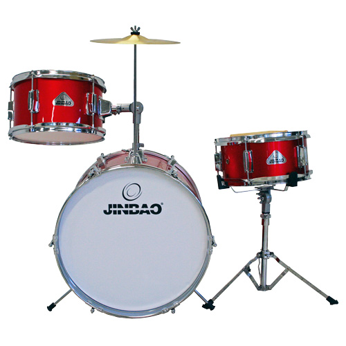 "JINBAO Poisto!!JBJ1042 Korkealaatuinen Lasten rumpusetti, <b>Pinkki</b>, High-quality 3 Piece Kids Drum Set, Pink, 16""x11"" Bass drum, 10""x5"" Snare drum, 10""x6"" Tom-tom + Cymbal + Hardware + Drum throne kampanja!"