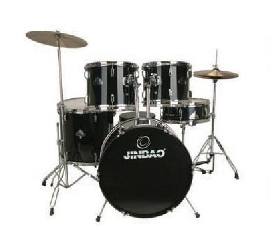 "JINBAO JBP0702 Korkealaatuinen Rumpusetti 5-osainen, <b>Musta</b>, Rumpujakkara sekä Symbaalit Mukana, High-quality 5 Piece Drum Set Black, 22""x14"" BD, 16""x16"" FT, 14""x5,5"" SD, 13""x10"" TT, 12""x9"" TT + Cymbals + Hardware + Drum throne"