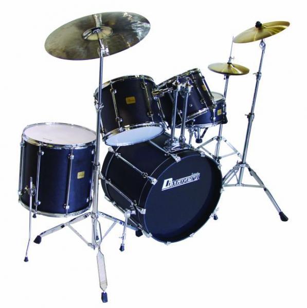 DIMAVERY DS-515 Drum Set, blue 5 pcs, my, discoland.fi