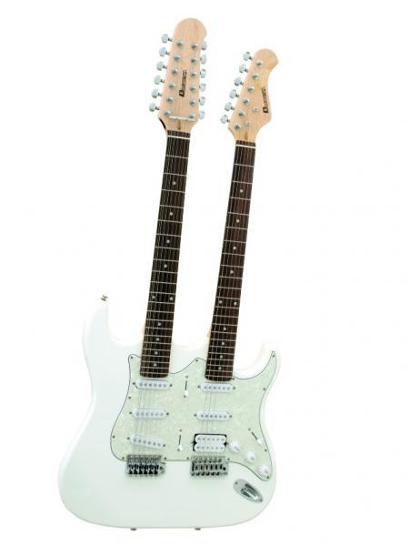 DIMAVERY DN-704 E-Guitar ST Dbl.Nck, whi, discoland.fi