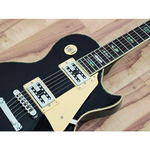 DIMAVERY LP-700 Sähkökitara on Les Paul tyyppinen upea ja hienosti viimeistelty laatukitara. E-Guitar, black. Mukana kevyt keikkabagi, plektra, kielet.