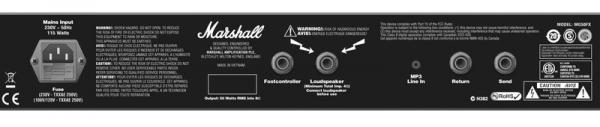 MARSHALL MARSHALL MG100HFX-NEW, Guitar Head, 100 Watt, uusi 100 wattinen kitaranuppi