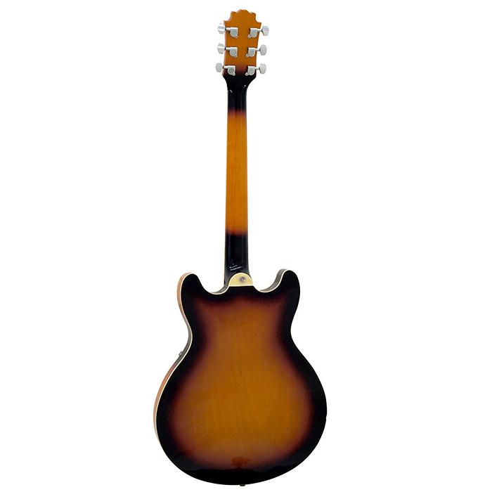 DIMAVERY SA-610 Puoliakustinen JAZZ Kitara, Vintage sunburst, Jazz Guitar, Vintage sunburst