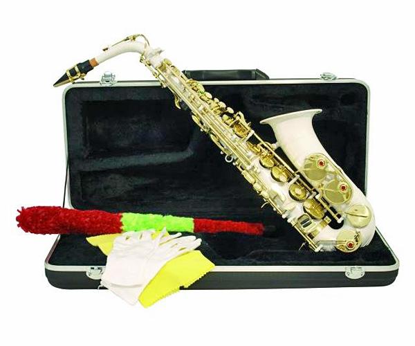 DIMAVERY SP-30 Eb Alto Saxophone, White, Alttosaksofoni, valkoinen