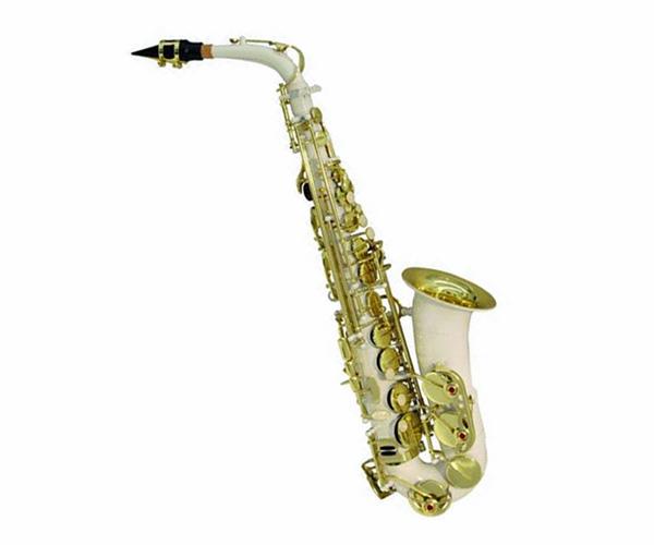 DIMAVERY SP-30 Eb Alto Saxophone, White,, discoland.fi