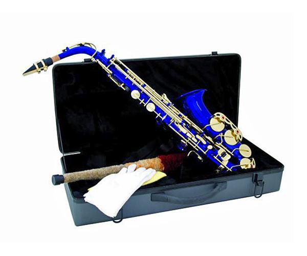 DIMAVERY SP-30 Eb Alttosaksofoni, sininen. Alto Saxophone, Blue