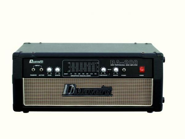 DIMAVERY BA-200 Bass amplifier top 200W,, discoland.fi