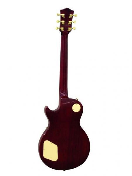 DIMAVERY LP-520 Sähkökitara, musta/helmiäiskuvio, E-Guitar, blackpearl