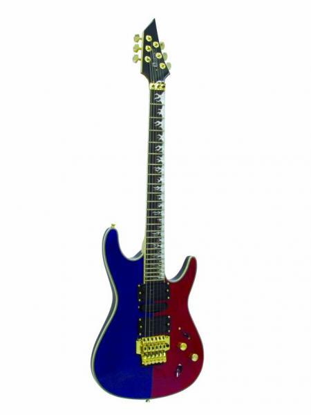 DIMAVERY FR-521 E-Guitar, Two Tone, Blue, discoland.fi