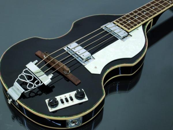 DIMAVERY VB-100 Violin Bass, black, Viulubasso, musta