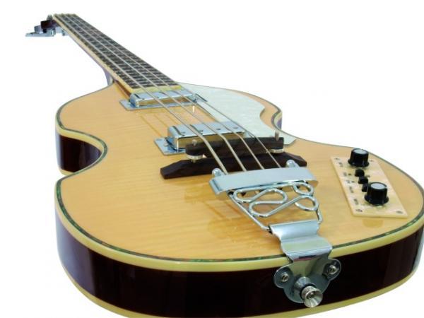 DIMAVERY VB-100 Violin Bass, flamed maple, Viulubasso, liekkivaahtera