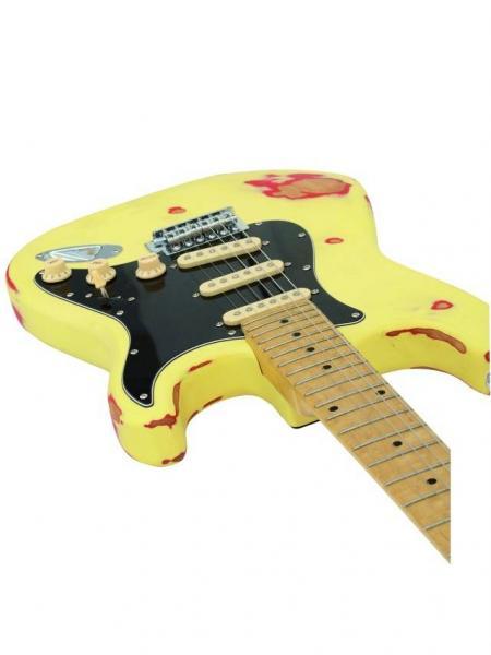 DIMAVERY ST-303 E-Guitar relic black Vintage sähkökitara, todella upea stratocaster tyyppinen kitara. POISTO