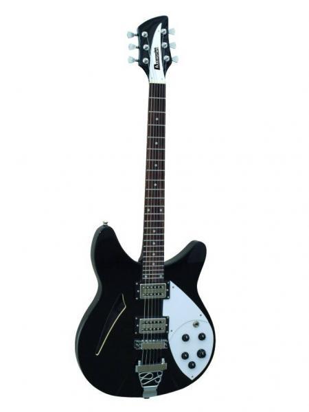 DIMAVERY RB-810 Semi-acoustic Guitar Bla, discoland.fi