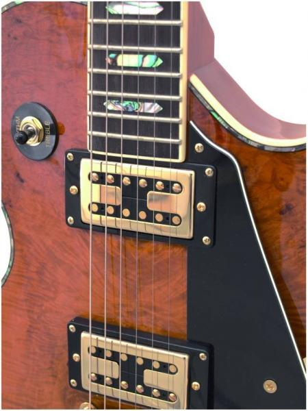 DIMAVERY LP-700 Sähkökitara väri kiiltävä hunaja. E-Guitar, Honey high gloss . todella upea Les paul tyyppinen kitrara korkeakiiltoisella lakkauksella sekä hunaja värillä.