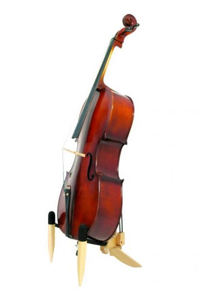 DIMAVERY Loppu!!Design Teline Selloille, taitettava, Design Wood stand for cellos