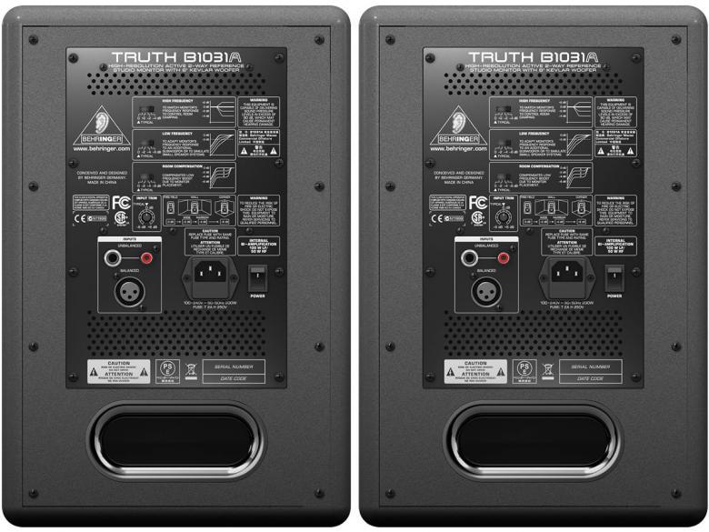 BEHRINGER TRUTH B1031A 100/50W aktiivi studiomonitori(kpl)Truth B1031A tarjoaa värittymättömän toiston, joka soveltuu loistavasti miksaustehtäviin. Kaikki komponentit on valittu huolellisesti, ja tuloksena on tasapainoinen toisto. Kevlar-elementti bassossa takaa syvän bassotoiston ilman säröä. Truth on tunnettu erityisen laajasta sweet spotistaan, eikä se rasita korvia pitkissäkään sessioissa.Tämä kaiutin toimii loistavasti myös surround-systeemin osana!