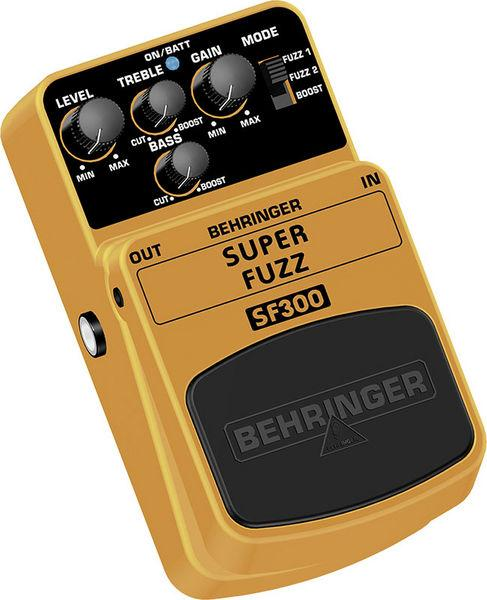 BEHRINGER SUPER FUZZ SF300, 3-Mode Fuzz Distortion Effects Pedal