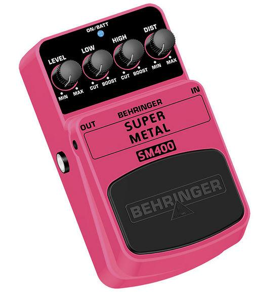 BEHRINGER SUPER METAL SM400, Super High-Gain Distortion Effects Pedal