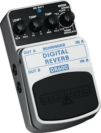 BEHRINGER DIGITAL REVERB DR600, Digital Stereo Reverb Effects Pedal