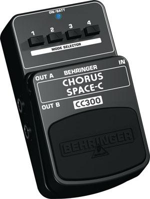 BEHRINGER CHORUS SPACE-C CC300, Analog 3-Dimensional Sound Effects Pedal