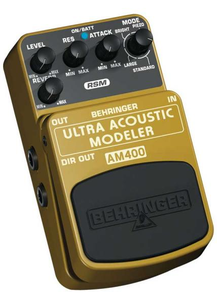 BEHRINGER ULTRA ACOUSTIC MODELER AM400, Ultimate Electric-to-Acoustic Guitar Modeling Effects Pedal