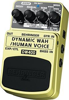 BEHRINGER DYNAMIC WAH DW400, Ultimate Auto-Wah/Human Voice Effects Pedal