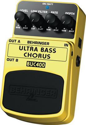 BEHRINGER ULTRA BASS CHORUS BUC400, Ultimate Bass Chorus Effects Pedal