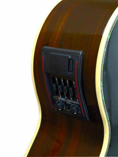 DIMAVERY AB-500 Acoustic Bass w.EQ,5-str. bk, 5-kielinen akustinen basso, musta