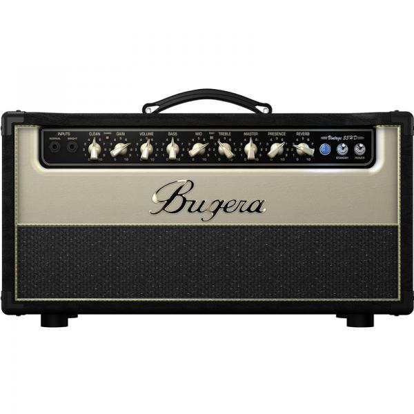 BUGERA V55HD Kitaraputkinuppi, Guitar Amplifier Head, All Valve, Boutique Style, 55 Watts With Reverb.