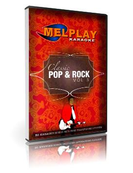 MELHOME Classic Pop & Rock Vol 3 karaoke DVD ammatti sekä kotikäyttöön 50 kappaletta, levyllä mm Needles and Pins - Smokie Girls just wanna have fun - Cindy Lauper Maria - Blondie  Material Girl - Madonna   Like a Prayer - Madonna  Only you - Yazoo  Telephone line - Elo Roll over Beethoven - Elo  Thorn in my side - Eurythmics  Dreamer - Ozzy Osbourne  My heart will go on - Celine Dion D.I.S.C.O - Ottawan Hips Don't lie - Shakira  La tortura - Shakira  You raise me up - West Life My Love - West Life  Boulevard of broken dreams - Green Day Put your love in me - Hot Chocolate  You sexy thing - Hot Chocolate  Those were the days - Mary Hopkins  Y.M.C.A - Village People  Can't stop the music - Village People Come along - Titiyo  Touch me - The Doors  The Lion sleeps tonight - The Tokens  Legs - ZZ Top  (You Drive me) Crazy - Britney Spears  Lucky - Britney Spears  Wannebe - Spice Girls Kingston Town - UB 40  Stars - Simply Red The Best - Tina Turner  Hell raiser - The Sweet I Only want to be with you - Dusty Springfield  On the beach - Chris Rea  Send me an angel - Scorpions Angels - Robbie Williams  Every time you go away - Paul Young  Desperado - Eagles  I Drove all night - Roy Orbison Life on Mars - David Bowie Rosanna - Toto  Cheri Cheri Lady - Modern Talking Big in Japan - Alphaville Japanese Boy - Aneka Tic tic tac - Carrapicho Do you wanna toch me - Joan Jett & The Blackhearts Hello Hello I'm back again - Gary Glitter  The Miracle of love - Eurythmics.