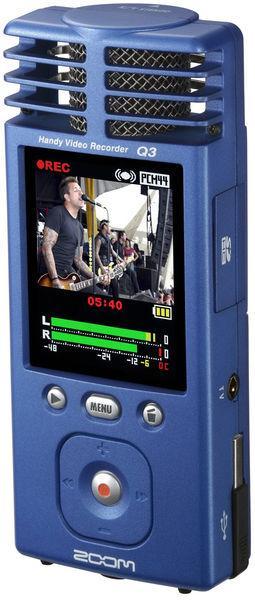 ZOOM Q3 Handy Video Audio Recorder, Kämmenkokoinen videotallennin, toimii myös erittäin korkealaatuisena äänentallentimena (96 KHz/24 Bit)