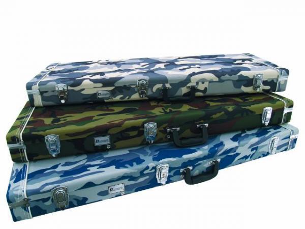 DIMAVERY Puinen Case Sähkökitaralle, Camo, Wooden-Case for E-Guitar camouflage.