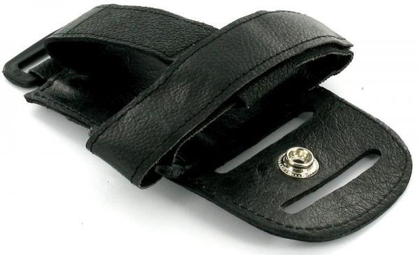 DLSS Taskulähetin Bodypack vyölle asennettava nahkainen, Aerobic tms juontajille, Wireless holder, leather, black