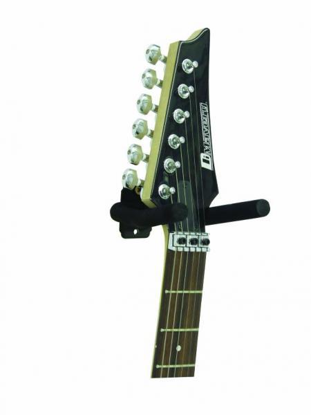 DIMAVERY Seinäteline kitaralle, musta, helposti kiinnitettävä sekä yksinkertaisen tyylikäs!Guitar holder, wall-mount, black KÄÄNTYVÄ !