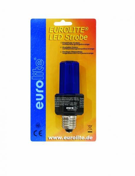 EUROLITE LED Strobe E-27 base, blue