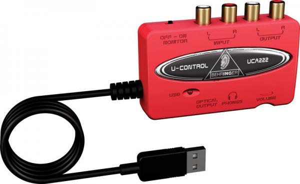 BEHRINGER U-CONTROL UCA222 USB äänikor, discoland.fi
