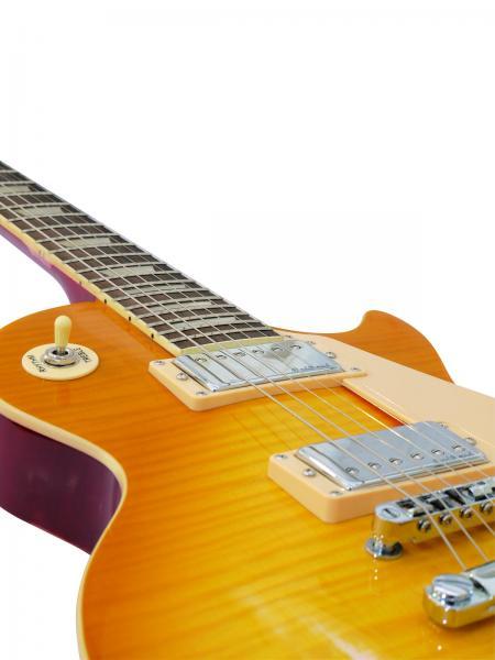 DIMAVERY LP-650 Les Paul mallinen sähkökitara, vintage-design. E-Guitar, relic