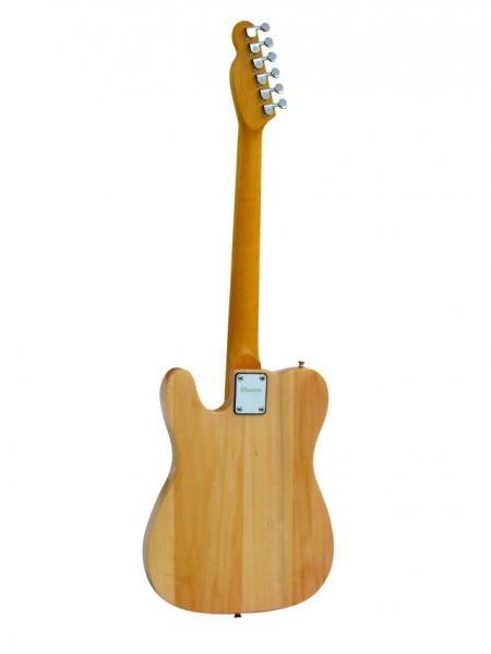 DIMAVERY TL-201 E-Guitar, Telecaster Tyyppinen sähkökitara, Laadukas tellu aloittelijalle tai Kokeneemmalle Kakkoskitaraksi! Telecaster TL-201, väri luonnon vaalea!