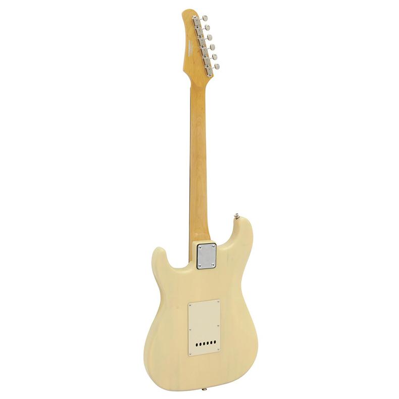 POISTO DIMAVERY ST-303 Sähkökitara vaalea-vintage. Todella upea vintage-tyyppinen stratocaster kitara. viileehinta