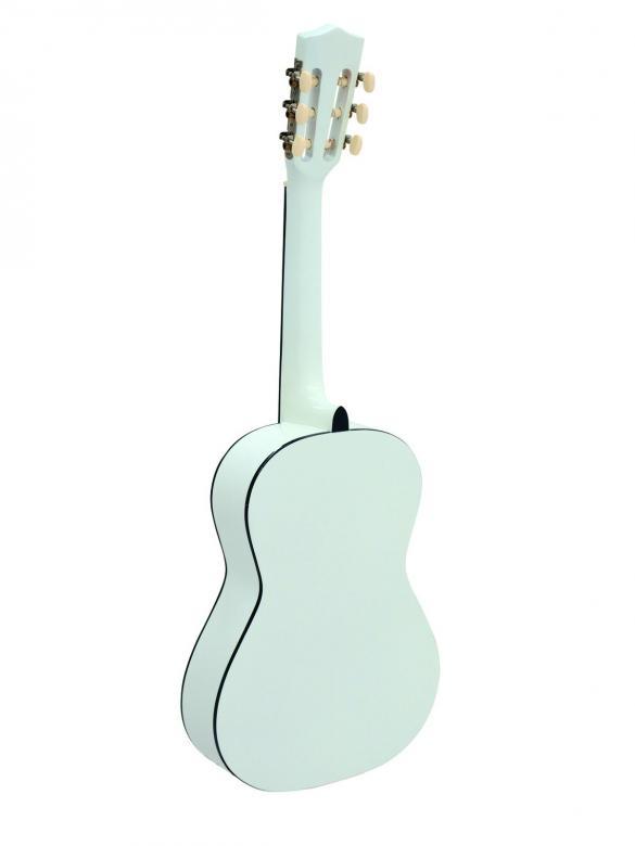 DIMAVERY AC-303 Lasten ja nuorten kitara valkoinen. Klassinen akustinen kitara koko 3/4 (90cm), nylonkielet. Vajaamittainen kitara sopii hiukan pienemmälle soittajalle.