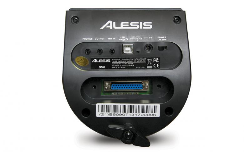 """ALESIS DM6 KIT sähkörummut Sisältää bassorummun pedaalin! Setissä on mukana """"dual zone"""" -virvelipadi, kolme tomia, hi-hat, crash, ride sekä basari pedaalilla. Virvelin voi ohjelmoida antamaan virvelisoundin kalvosta ja toisen soundin kanttilyönnistä. Upouusi DM6-moduli tarjoaa laajan valikoiman huippusoundeja sekä kymmenen esiohjelmoitua ja viisi itse muokattavaa settiä. Voit myös lähettää MIDI-signaalin USB-lähdön kautta suoraan tietokoneelle, ja käyttää äänilähteenä mitä tahansa rumpusoftaa!"""
