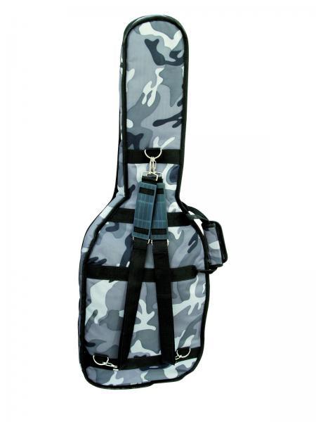 DIMAVERY ESB-200 Soft-Bag f E-Guit. camo, Kitarapussi sähkökitaralle