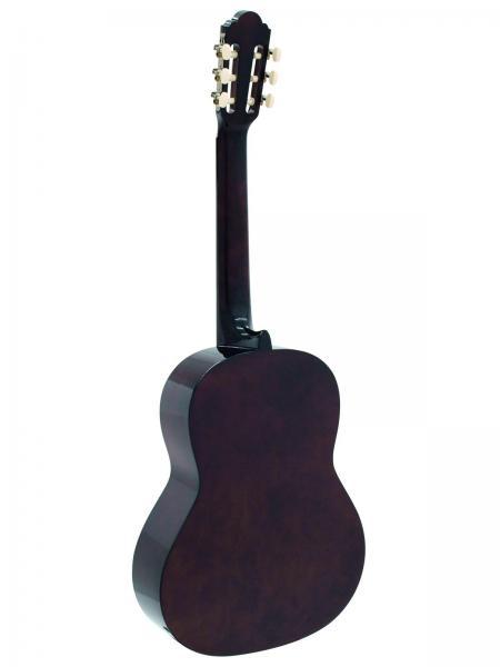 DIMAVERY AC-303 Klassinen akustinen kitara, nylonkielinen  4/4, natural spruce. Laadukas ja soveltuu loistavasti harraste soittimeksi tai ensimmäiseksi kitaraksi harjoitteluun. Kielet: Nylon- Runko : Spruce Wood  Kaula: Vaahterapuuta Otelauta: Ruusupuuta/ 19 Frets  Kansi: Ruusupuuta Sisältää säilytyspussin.
