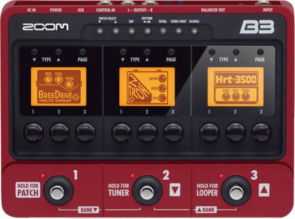 ZOOM B3 Multiefektipedaali-audiointerfac, discoland.fi